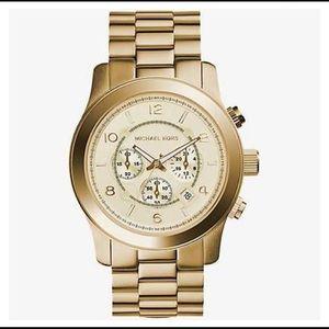 Michael Kors Runway Oversized Gold Watch